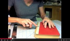 Spine Repair Part I — helpful video for repairing hardcover spines.