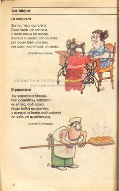 Libros de Primaria de los 80's: Los oficios - Español Lecturas 3er grado