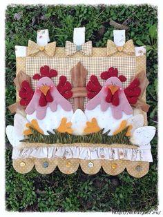 Para las fanticas de las gallinas preciosa cenefa para la cocina