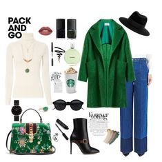 """""""Untitled #14"""" by sisi-mrpr ❤ liked on Polyvore featuring Valentino, Gucci, Maison Michel, CLUSE, Jamie Joseph, Raey, Bobbi Brown Cosmetics, NARS Cosmetics, Chanel and parisfashionweek"""