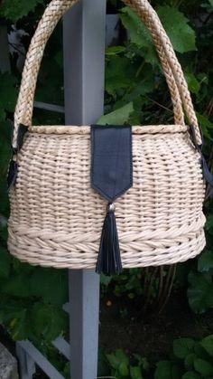 Bamboo Weaving, Weaving Art, Basket Weaving, Paper Basket, Basket Bag, Sisal, Creative Bag, Wicker Purse, Jute Crafts