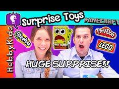HobbyDee HUGE Surprise for HobbyGuy! Surprise Toys + Blind Bags HobbyKidsTV