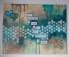 Bill Giyaman posted Anikraft: Abstract Canvas inspired by Dyan Reaveley to their -inspiring quotes and sayings- postboard via the Juxtapost bookmarklet. Art Journal Pages, Journal D'inspiration, Creative Journal, Art Journals, Creative Art, Journal Ideas, Writing Journals, Bullet Journal, Mixed Media Journal