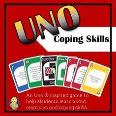 Coping Skills Card Game (Uno ® inspired)