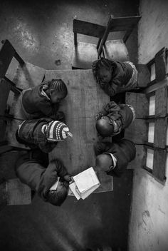 its-salah:  children nap at their school in the nairobi slum of mathare. photo joe saade