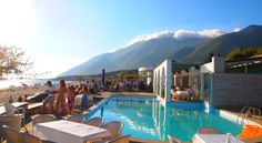 Located right on the sandy beach in Dhërmi, Drymades Inn Resort has an outdoor pool and offers air-conditioned rooms housed in wooden cottages. Montenegro, Wooden Cottage, Outdoor Pool, Outdoor Decor, Albania, Strand, Explore, Holiday, Travel