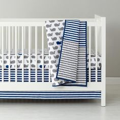 The Land of Nod | New School Crib Bedding (Make a Splash) in Crib Bedding