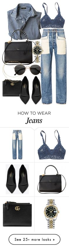 """Untitled #21708"" by florencia95 on Polyvore featuring Helmut Lang, Rolex, Gucci, Hanky Panky, Yves Saint Laurent, Tiffany & Co. and H&M"