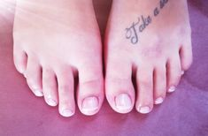 Matching French Polish toes
