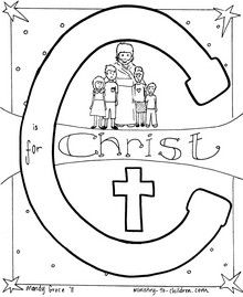 Bible alphabet coloring pages... a new letter is added after each FB ...