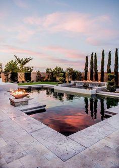 21 Best Swimming Pool Designs [Beautiful, Cool, and Modern] - garden ideas backyard Backyard Pool Designs, Swimming Pool Designs, Backyard Patio, Backyard Landscaping, Landscaping Ideas, Pool Garden, Backyard Privacy, Large Backyard, Terrace Garden