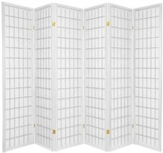 "Oriental Furniture Asian Furniture, 6-Feet Window Pane Japanese Shoji Privacy Screen Room Divider, 6 Panel White by ORIENTAL FURNITURE. $218.26. 3, 4, 5, 6 or 8 panels, black, honey, natural, walnut, white or rosewood. 69.5"" by 17"" panels, premium kiln dried spruce, classic japanese design, 2 way hinges. Tough, durable, fiber reinforced shade softens and diffuses light, lattice on front only. Browse our huge selection of japanese, chinese, asian décor, room div..."