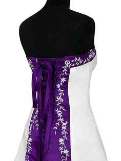 Wedding Dress - Purple Back