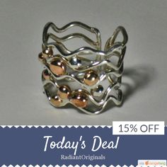 Today Only! 15% OFF this item.  Follow us on Pinterest to be the first to see our exciting Daily Deals. Today's Product: Adjustable big ring argentium sterling silver with copper and brass accents ,statement, gift Buy now: https://www.etsy.com/listing/79530551?utm_source=Pinterest&utm_medium=Orangetwig_Marketing&utm_campaign=Daily%20Deal   #etsy #etsyseller #etsyshop #etsylove #etsyfinds #etsygifts #handmade #etsyjewelry #etsysellers #etsyfinds #musthave #loveit #instacool #shop #shopping…