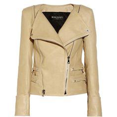 Balmain Leather biker jacket found on Polyvore