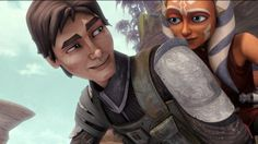 I don't care what anyone says I love Ahsoka and Lux together. LOVE his face there!!!!