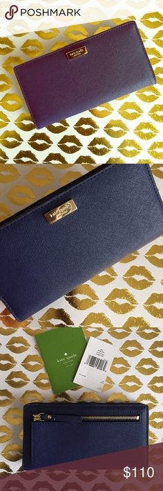 KATE SPADE New York Indigo newbury lane💕 KATE SPADE New York Indigo color wallet very cute & classy very nice color perfect for any occasions  brand new with tags comes with KATE SPADE paperbag💕 kate spade Bags Wallets