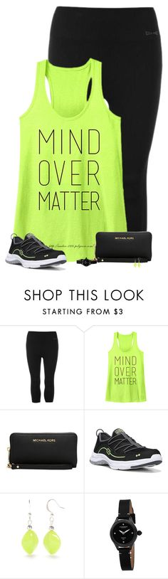 """""""Mind Over Matter"""" by amber-1991 ❤ liked on Polyvore featuring USA Pro, Michael Kors, Rykä, Kim Rogers, Akribos XXIV, casual, tanktop, sneakers and Leggings"""