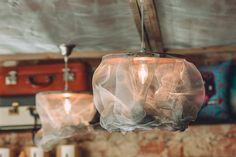 wire mesh pendant light by Pétula Plas