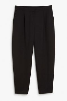 Monki Image 1 of Tapered trousers in Black