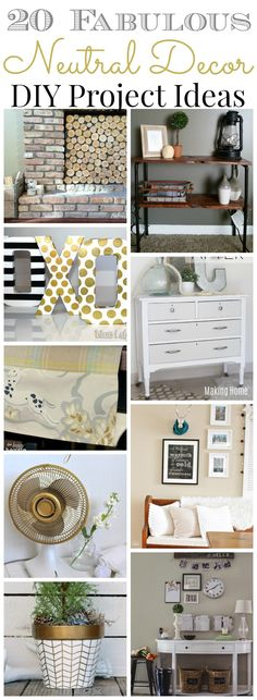 20 Fabulous Neutral Decor Projects at The Happy Housie