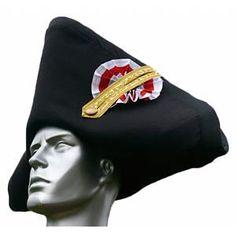 BICORNE sombrero usado hacia 1795 en el traje masculino