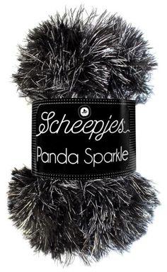 Panda Sparkle   Scheepjeswol Laundry Symbols, Needles Sizes, Panda, Craft Projects, Winter Hats, Sparkle, Amigurumi, Threading, Pandas