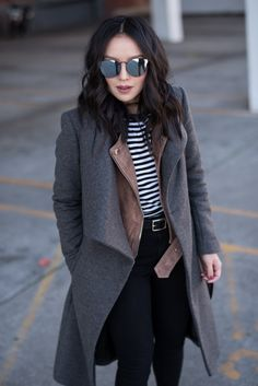 layering a coat over a jacket
