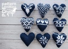 2017010 Knit Fair Isle Hearts pattern by Midknits Color Plan, One Color, Knitting Patterns, Crochet Patterns, Fair Isles, Clay Pot Crafts, I Cord, Knit In The Round, Knit Patterns