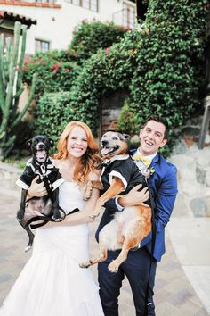 Dogs make the best wedding guests. | Gideon Photography via Love Inc.