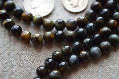 Black Tiger Eye Japa Mala Bhakti Yoga Beads Prayer Beads Handmade Yoga Mala Necklace - 108 Beads For Stimulating Willpower, Protection, Root