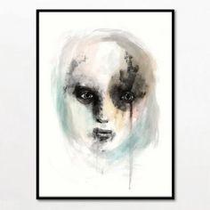 Bob Noon - Face - indrammet 50 x 70 cm.