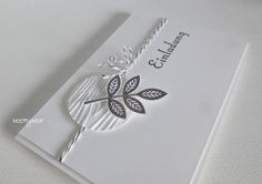 Stampin' Up! ... handmade invitation card from stampin with beemybear ... clean and elegant ... for a confirmation but could easily serve for any event ... luv it!
