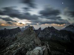 Landscape from Rifugio Nuvolau - near Cortina d'Ampezzo, Dolomites, Italy