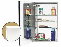Alno MC20344-SS - 2000 Series Stainless Steel Cabinet Body W/ Beveled Edge Door 170° Hinge by Alno. $438.13. Medicine Cabinet made by Alno, in a Stainless Steel finish.. Save 23% Off!