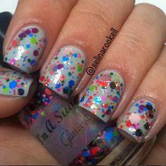 Glitter Lambs-I'm A Sugar Baby Glitter Nail Polish Swatch By Selina Rockell