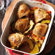 Maple-Roasted Chicken & Acorn Squash
