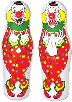 Inflatable Clown Punching Bag - Set of Two