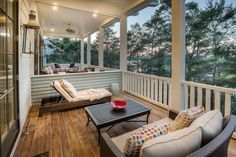 Traditional Porch with Porch swing