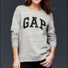 EUC Gap sweatshirt with black spake letters Just to short for my torso. Worn twice. Slight high low GAP Tops Sweatshirts & Hoodies