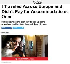 #Travel the world and never pay for another hotel again. Read my essay in #vice. #travelwriter #travelwriting #travelblogger #tbex #travelskills #traveltips #rtw #housesitting #housesitter #writinglife #writerslife #writers