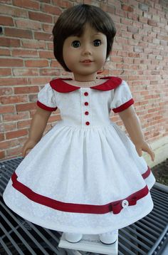 1950's Style Holiday Dress with Slip for Molly or Emily by Designed4Dolls via Etsy  $22.95