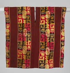 Child's Tunic with Faces and Hands, ca. 750–800 Peru, south highlands, Wari style Camelid hair, cotton; tapestry weave; 21 1/4 x 21 in. (55.5 x 54 cm) Private Collection