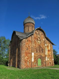 Peter and Paul Church (1406) in Veliky Novgorod, Russia