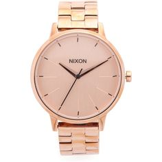 Nixon Kensington Watch ($180) ❤ liked on Polyvore featuring jewelry, watches, rose gold, rose gold watches, nixon watches, rose gold jewelry, red gold jewelry and snap button jewelry