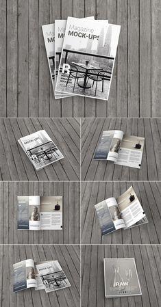 A4 Magazine / Brochure Mockup psd mockups, product mockups, presentation mockups, mockup templates