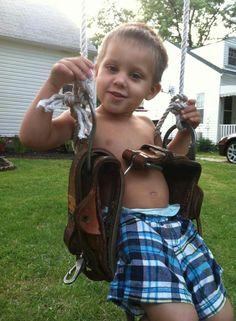Recycle linemen belt!:) love this idea