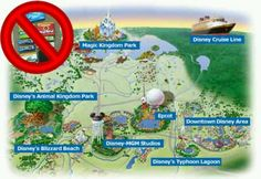 Disney does not allow gum to be sold on the property. By doing this, you rarely see gum on the ground, rides, tables, chairs, and benches. They can't stop you from bringing it in though.