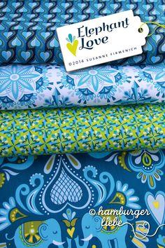Hamburger Liebe - Elephant Love blau grün