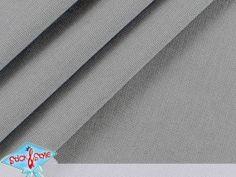 Stoff Canvas uni - grau – Baumwolle